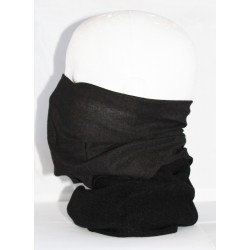 Black Multi use Fleece Combination Neck Tube