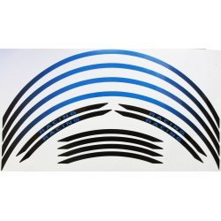 Blue motorcycle wheel stripes