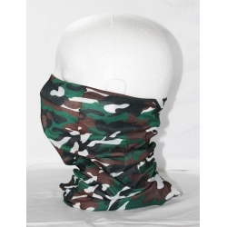 camo green and white neck tube