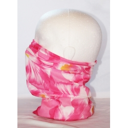 Pink flower neck tube
